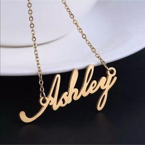 "Custom ""ASHLEY"" NAMEPLATE NECKLACE Gold Plated"